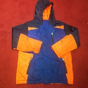 Lands end children's coat boys jacket orange 8
